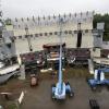 Opbouw van Emporium op de Berendonck, Wijchen, 29-5-2014 . dgfoto.
