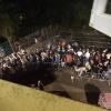 Doornroosje, Planet Rose closing Party, Vanwege het voetbal liep het gestaag vol en was het niet druk voor de deur. Dj Pure uit Nijmegen opende (en sluit) het 24 h feest. Nijmegen, 6-7-2014 . dgfoto.