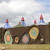 Een tipje van de sluier op terrein Down The Rabbit Hole, nieuw festival Groene Heuvel, s Ewijk , 23-6-2014 . dgfoto.