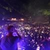Matrix, lichtshow, Hunnerpark, Skitzofrenix, Vierdaagsefeesten, Zomerfeesten, Vierdaagse. Nijmegen, 13-7-2014 . dgfoto.