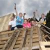 Kindervakantiebouwdorp bouwdorp, Neerbosch. Nijmegen, 21-8-2014 . dgfoto.