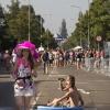 Intocht Vierdaagse Annastraat met Jaqueline, Simone, Claus. Nijmegen, 18-7-2014 . dgfoto.