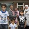 Het Koerdische asielzoekersgezin Khamo (4 jonge kinderen tot 13 jaar, in Nijmegen geboren) moet terug naar 'eigen' land, tegenwoordig ISIS-land. Beroep op kinderpardon is afgewezen door rechtbank. Hoop nu gevestigd op staatssecretaris Teeven, die in schrijnende gevallen over zijn hart kan strijken. Nijmegen, 22-8-2014 . dgfoto.