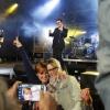 tribute band van U2,  met organisator Ben Wijnhoven, Wolfsberg Groesbeek, 24-8-2014 . dgfoto.