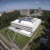 Grotiusgebouw met Drone. Nijmegen, 27-8-2014 . dgfoto.
