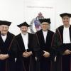 Rede Leon Lamers, Aula RUN. Nijmegen, 8-10-2014 . dgfoto. Van links naar rechts: den Hartog, van Groenendael, Roelofs, Lamers