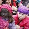 Sinterklaas is weer in de stad.. En de burgemeester. Nijmegen, 15-11-2014 . dgfoto.1 witte en 1 zwarte Piet
