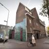 De monumentale gevel van Cinemarienburg. Nijmegen, 23-11-2014 . dgfoto.