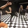 Voorbereiding voor de musical door scholieren van het NSG, scholengemeenschap.. Nijmegen, 28-11-2014 . dgfoto.
