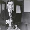 Stephan Schrover, Praeses van studentenvereniging Carolus Magnus. Nijmegen, 02-10-1990 . Nu directeur-generaal. RVD, 11-1-2015 . dgfoto.