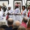 Uitgaan op eerste Kerstdag in Nijmegen: Surinaams koor in Afrikamuseum. Nijmegen, 26-12-2014 . dgfoto.