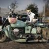 bij de Markt op Kelfkensbosch, bewaakte motor. Nijmegen, 16-3-2015 . dgfoto.
