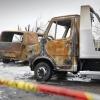 Alphen a/d maas, Wamelseweg 10, verbrande auto's / loods. Is brand geweest op woonwagenkampje.  , 19-3-2015 . dgfoto.