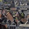 renovatie Stevenskerk uitzicht vanaf, op steigers van, leisteen, . Nijmegen, 23-4-2015 . dgfoto.