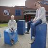 NSG, 2 docenten 40 jaar in dienst. Nijmegen, 23-4-2015 . dgfoto.