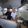 De mannen van het veerpont Beuningen. 28-7-2015 . dgfoto.
