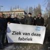 Portretten van vijf werknemers van LincolnSmitweld plus foto van vakbondsman en bedrijf. Nijmegen, 18-1-2016 .