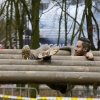 Viking run, mud run, Beerendonck, Wijchen met oa. Leo Klaassen, 19-3-2016 .