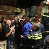 Oefening van politie in o.a leegmaken dancing Extase na agressie in de horeca. Nijmegen, 6-10-2016 .
