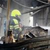 schade na brand autosloperij Hogelandseweg. Nijmegen, 17-11-2016 .
