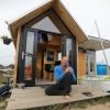 Jeroen Clemens die in een tiny house woont. Nijmegen, 22-9-2016 .