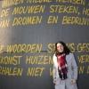 Frouke Arns, stadsdichter bij Honig. Nijmegen, 26-1-2017 .