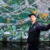 Yannick grafity artist. verhaal Daan Appels. Nijmegen, 4-9-2017 .