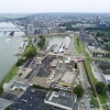 Nijmegen west per drone van af boven Hilckman. Nijmegen, 5-9-2017 .