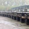 Legerdump Reomie in Ooij met militaire voertuigen, 10-10-2017 .
