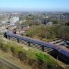 studentenflat Hoogveld met de drone. Nijmegen, 10-3-2017 .