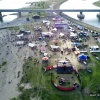 festival op het eiland drone, Vierdaagsefeesten, zomerfeesten, vierdaagse 2017. Nijmegen, 22-7-2017 .