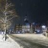Grote Markt in de sneeuw. Nijmegen, 11-12-2017 .