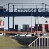 Container terminal. Nijmegen, 7-2-2018 .