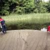 Kinderen doen biologie, veldwerk in botanische tuin