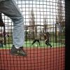 """""""opening panna-kooi (voetbalkooi), Weurtseweg, Dit is een kooi waarin de jeugd kan straatvoetballen."""""""