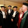 """""""Rectorwissel Radbouduniversiteit. Cees Blom draagt de ketting over aan Bas Kortman. in de Titus Brandsmakrk, Vereeniging en Soeterbeeck"""""""
