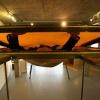 """""""kunstenaar Rob Sweere die in het Architectuurcentrum in Nijmegen allerlei 'ruimtelijke objecten' heeft staan voor een expositie."""""""