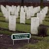 "\""Bordje Werk in Uitvoering op Canadese begraafplaats Groesbeek\"""