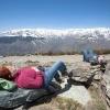 "\""Spanje , Eeuwige sneeuw Sierra Nevada bij Orchiva\"""