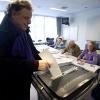 "\""Nijmegen, 3-3-2010 . Stemmen in Nijmegen, stembureau bij Margriet\"""
