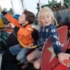 "\""Nijmegen, 7-2010 . Zomerfeesten, Vierdaagse, Siem en Mats in de rups\"""