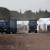 "\""Nijmegen, 11-7-2011 . Rondleiding over kamp Heumensoord o;v adudant Bossemeijer. Vierdaagse Nijmegen,\"""