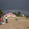 "\""Nijmegen, 17-7-2011 . Zomerfeesten, Valkhofaffaire Valkhof, Habana, Lents strand, regenboog\"""